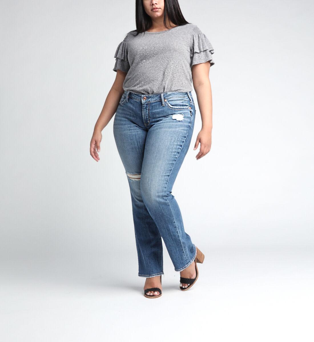 Suki Mid Rise Straight Leg JeansPlus Size Front