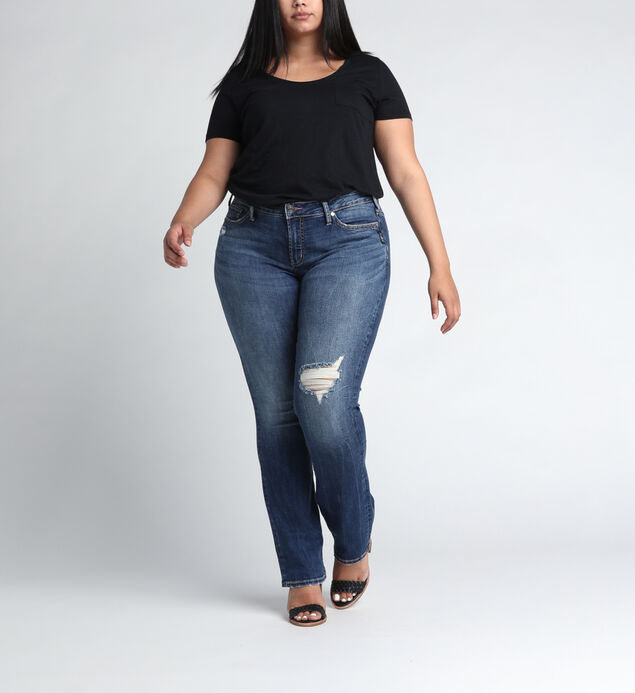Suki Mid Rise Straight Leg JeansPlus Size