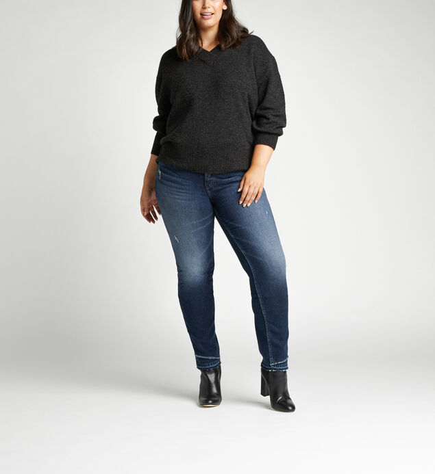 Suki Mid Rise Slim Leg Jeans Plus Size