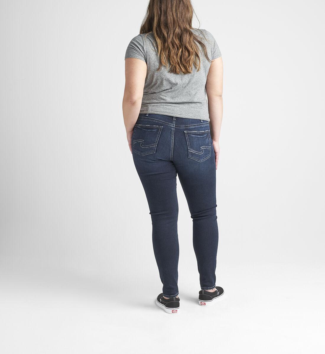 Suki Mid Rise Skinny Jeans Plus Size Back