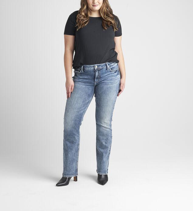 Elyse Mid Rise Slim Bootcut Jeans Plus Size