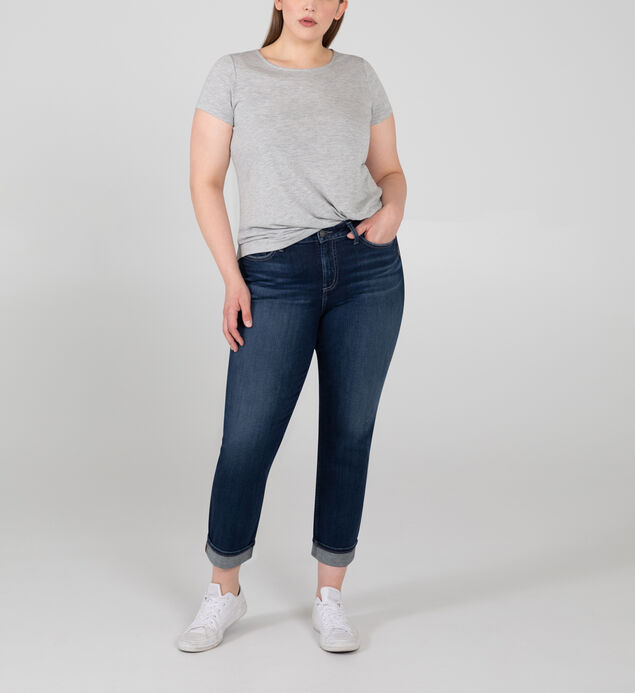 Avery High Rise Straight Crop Jeans Plus Size