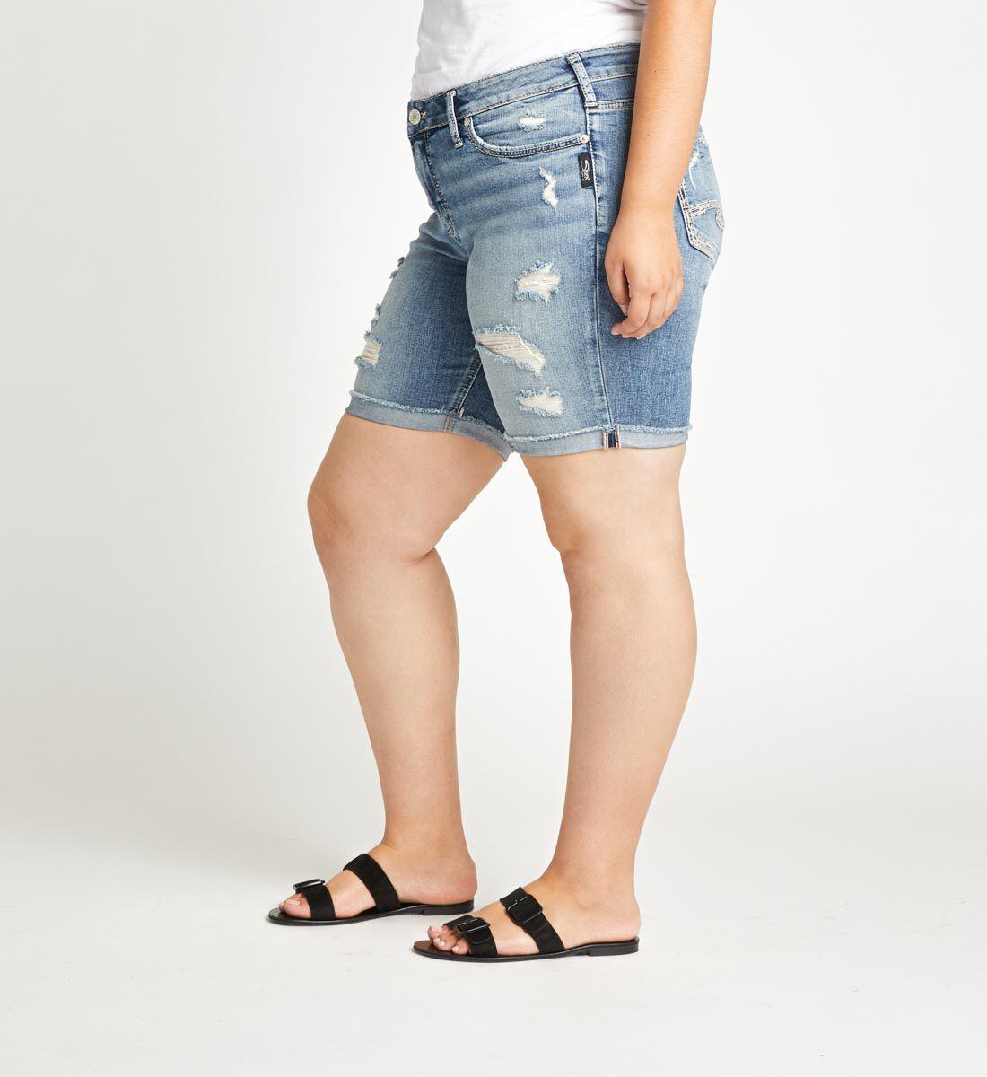 Suki Mid Rise Bermuda Short Plus Size Side