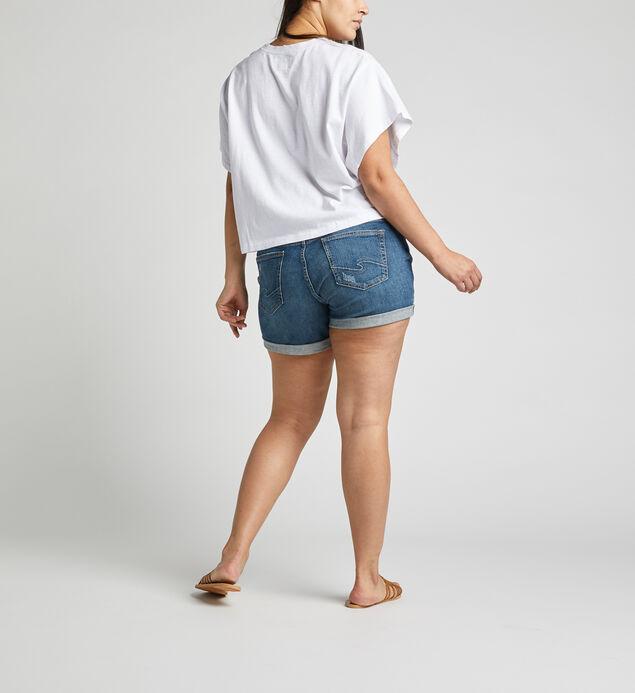 Boyfriend Mid Rise Short Plus Size, , hi-res