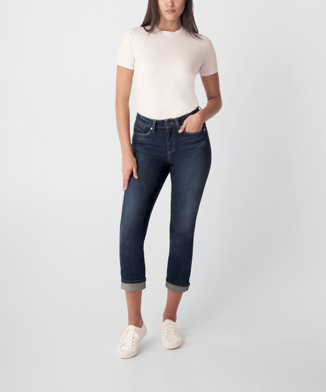 Avery High Rise Straight Crop Jeans