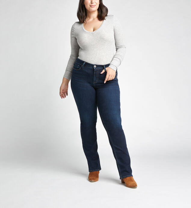 Avery High Rise Slim Bootcut Jeans Plus Size