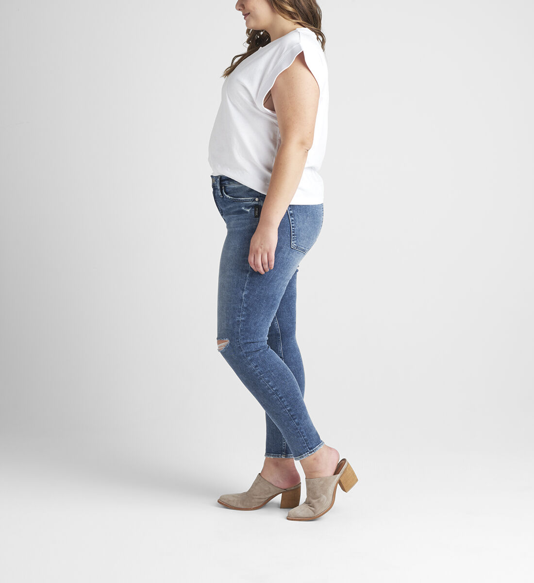 Most Wanted Mid Rise Skinny Jeans Plus Size Side