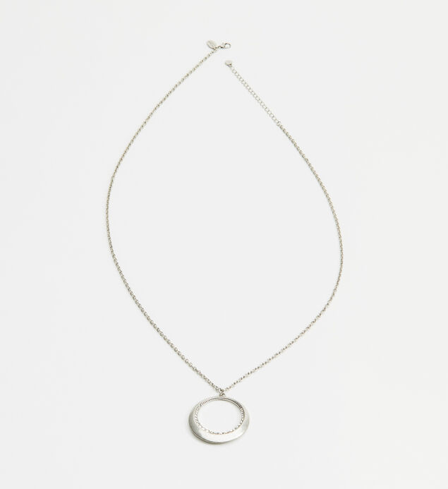 Long Ring Pendant Necklace