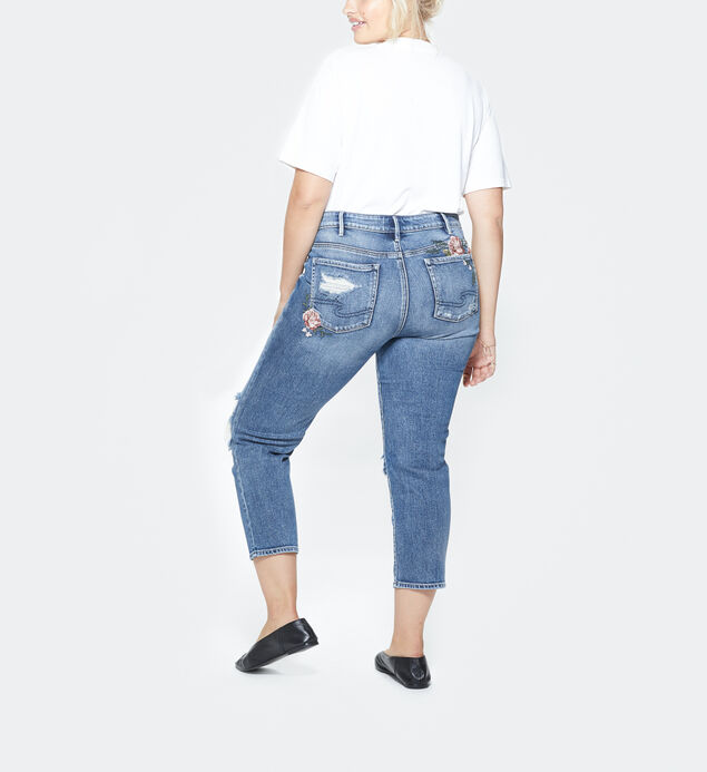 Mazy Slim Crop Medium Wash, , hi-res