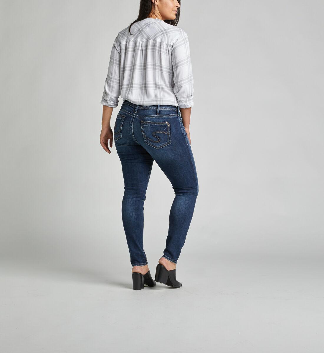 Suki Mid Rise Super Skinny Jeans Plus Size Back