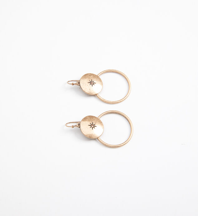Hoop Drop Earrings, , hi-res