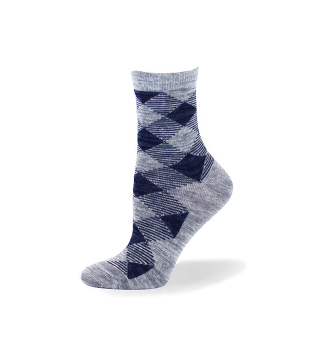Argyle Mid-Calf Women's Socks