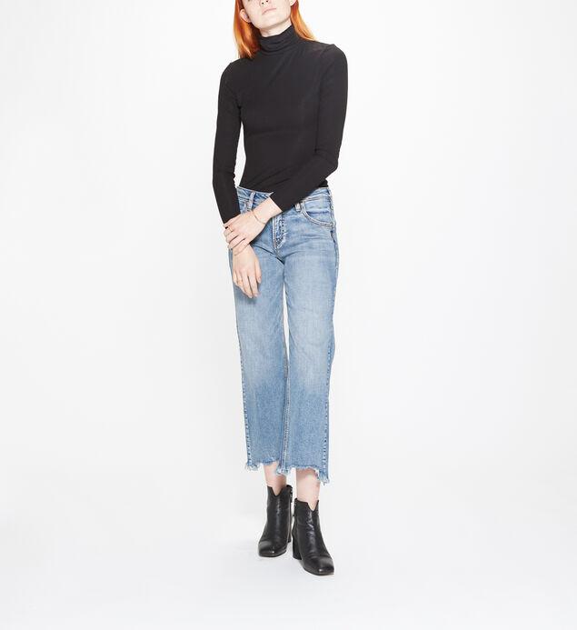Wide Leg Crop Medium Wash