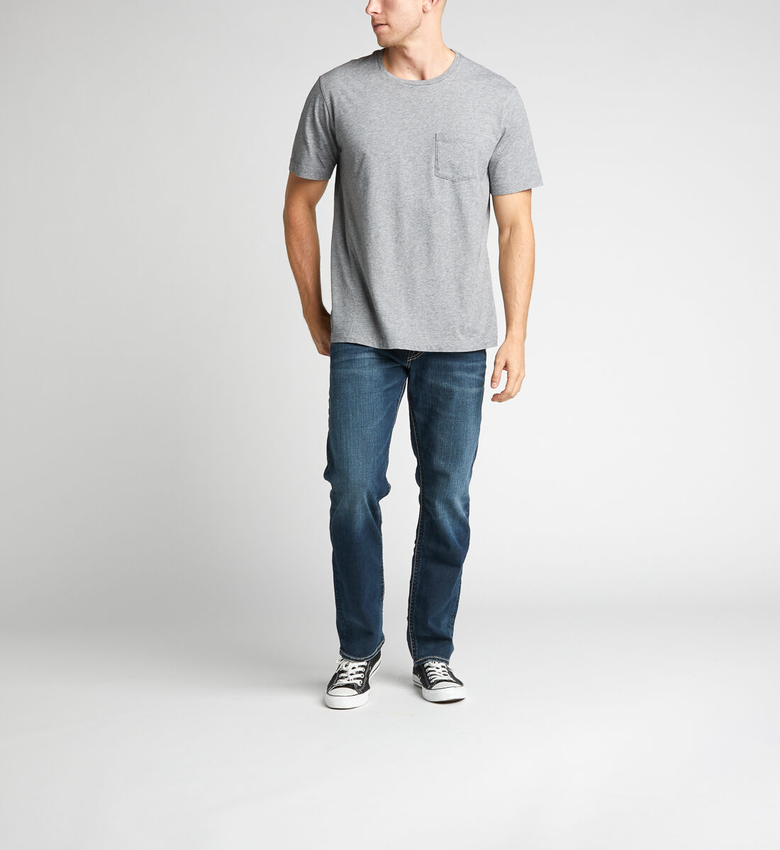 Eddie Relaxed Fit Tapered Leg Jeans Alt Image 1