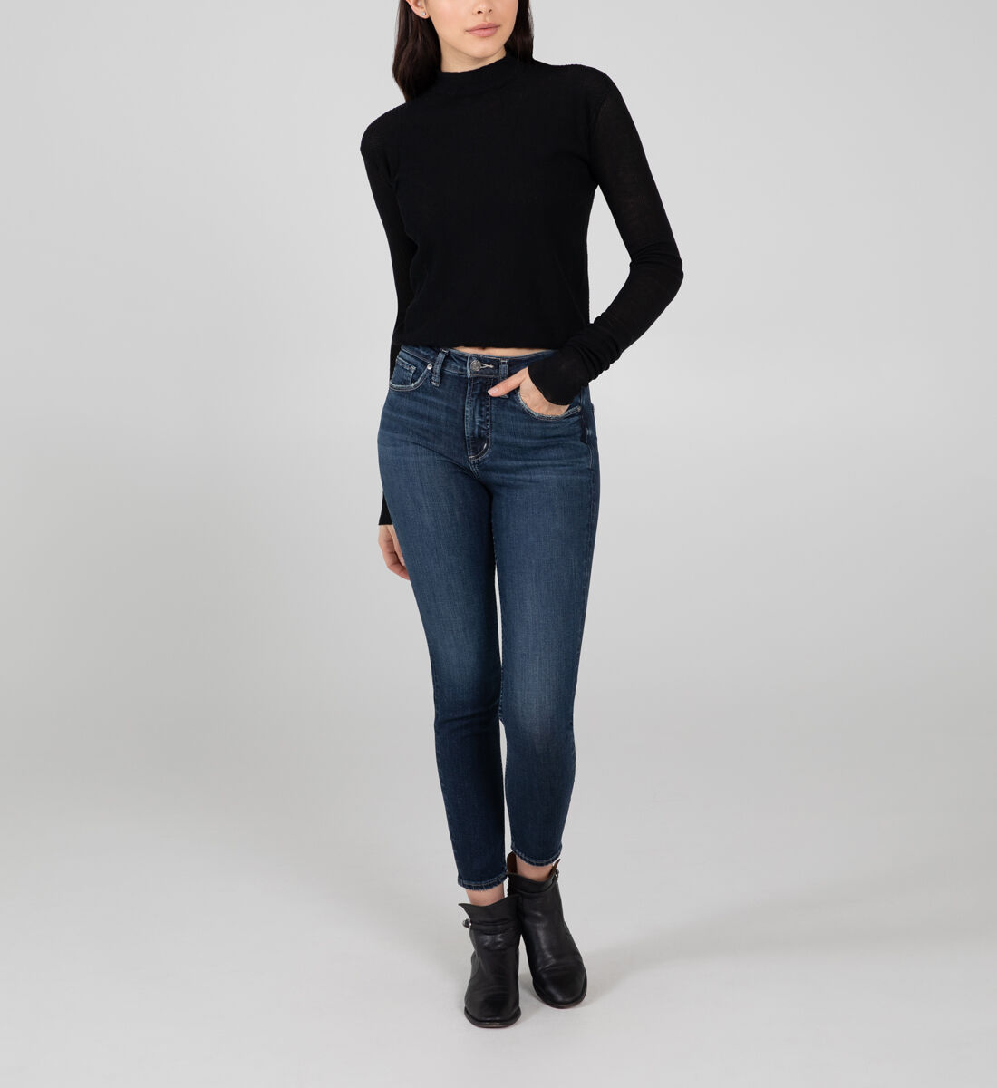 High Note High Rise Skinny Jeans Front