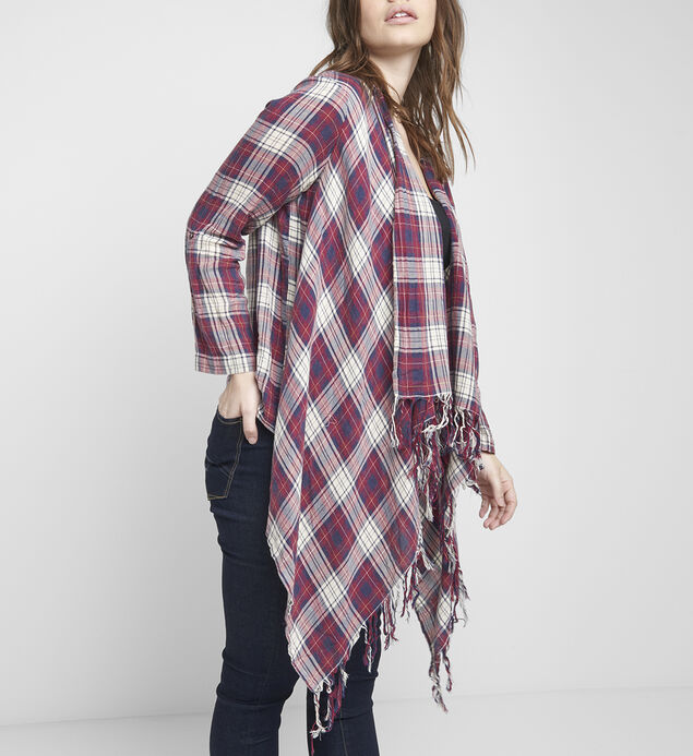 Evie Plaid Shawl, , hi-res