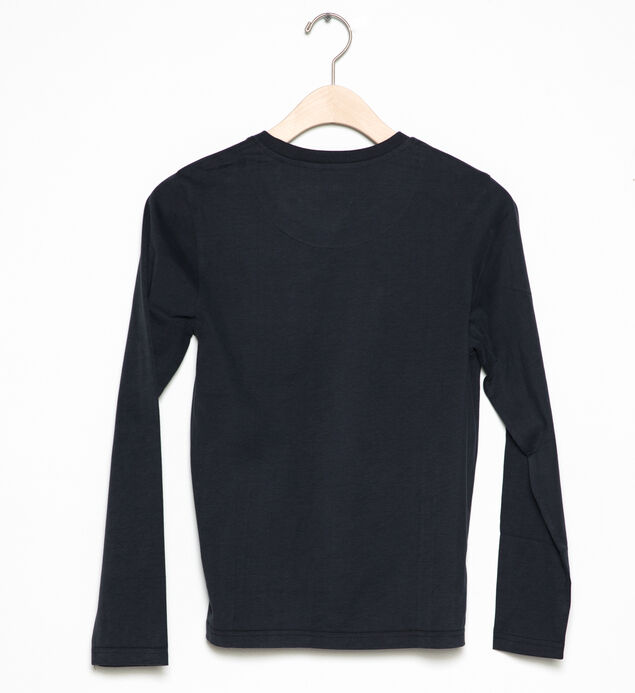 Long-Sleeve Two-Pocket Tee (4-7), , hi-res