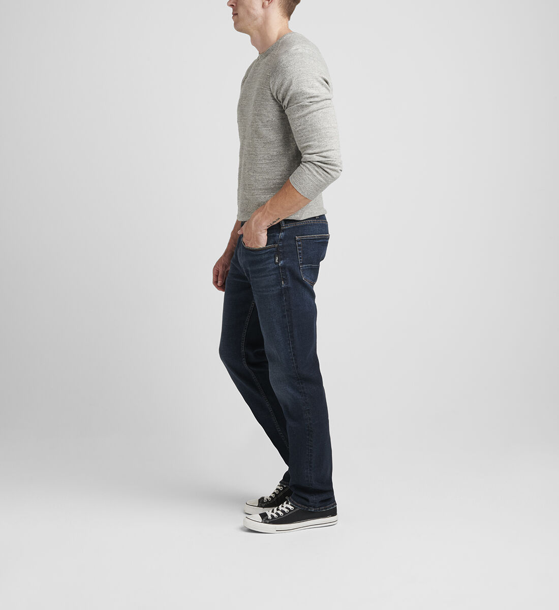 Machray Classic Fit Straight Leg Jeans Side