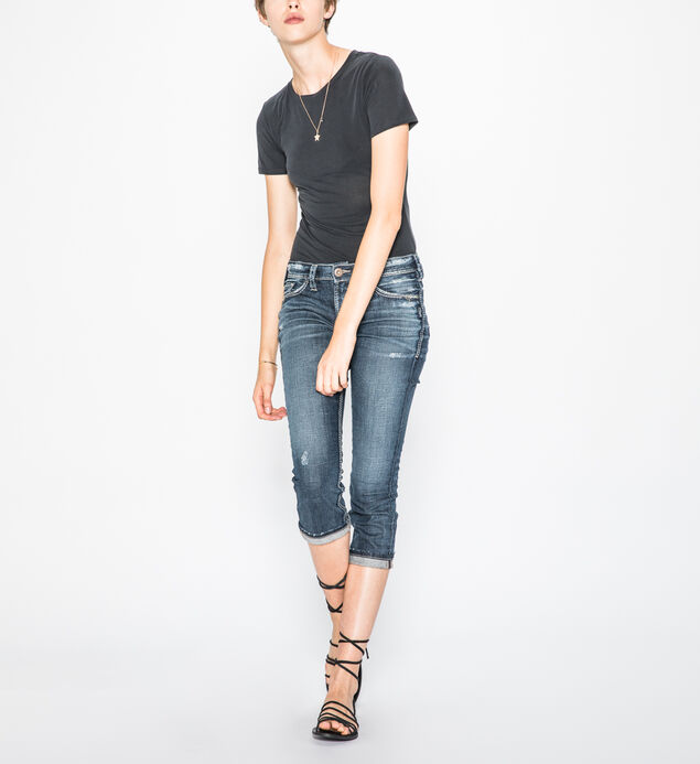 Elyse Capri Dark Wash