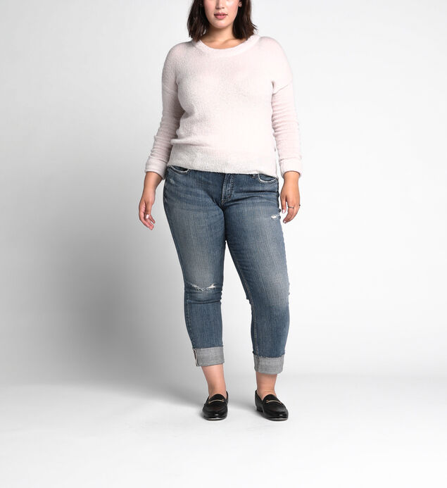 Plus Size Boyfriend Slim Dark Wash