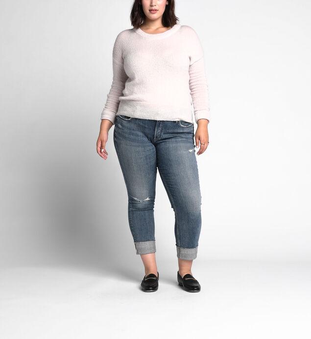 c028ee507d5 ... Boyfriend Mid Rise Slim Leg Jeans Plus Size