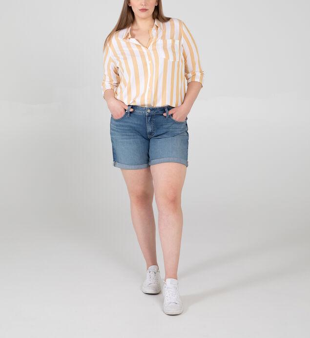 Boyfriend Mid Rise Shorts Plus Size