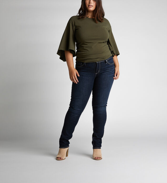 Elyse Mid-Rise Curvy Relaxed Straight-Leg Jeans