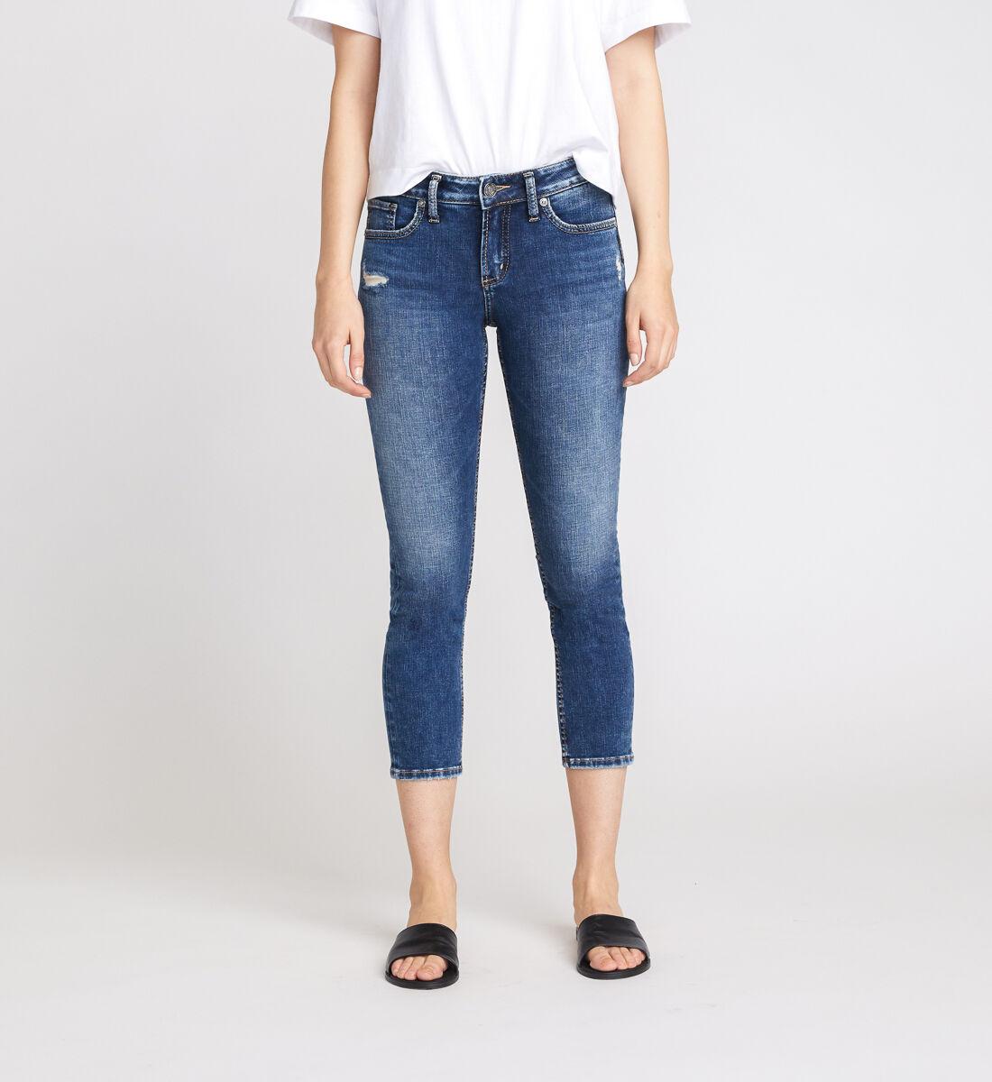 Elyse Mid Rise Slim Crop Jeans Front