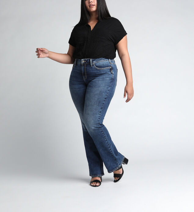 Avery High Rise Slim Bootcut Plus Size Jeans