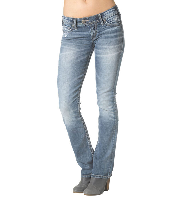 Tuesday Low Slim Boot Medium Wash