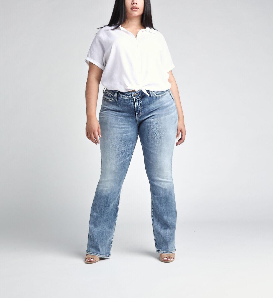 Elyse Mid Rise Slim Bootcut JeansPlus Size Alt Image 1