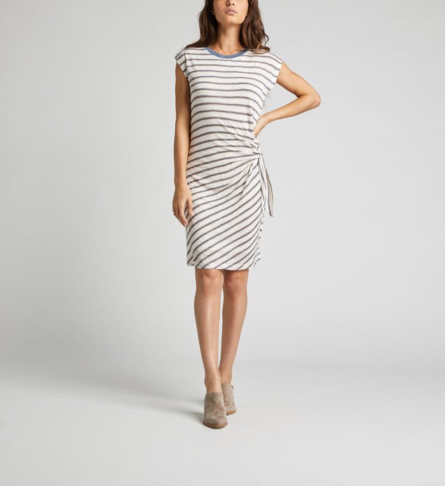 Arlene Side-Knot Striped Dress