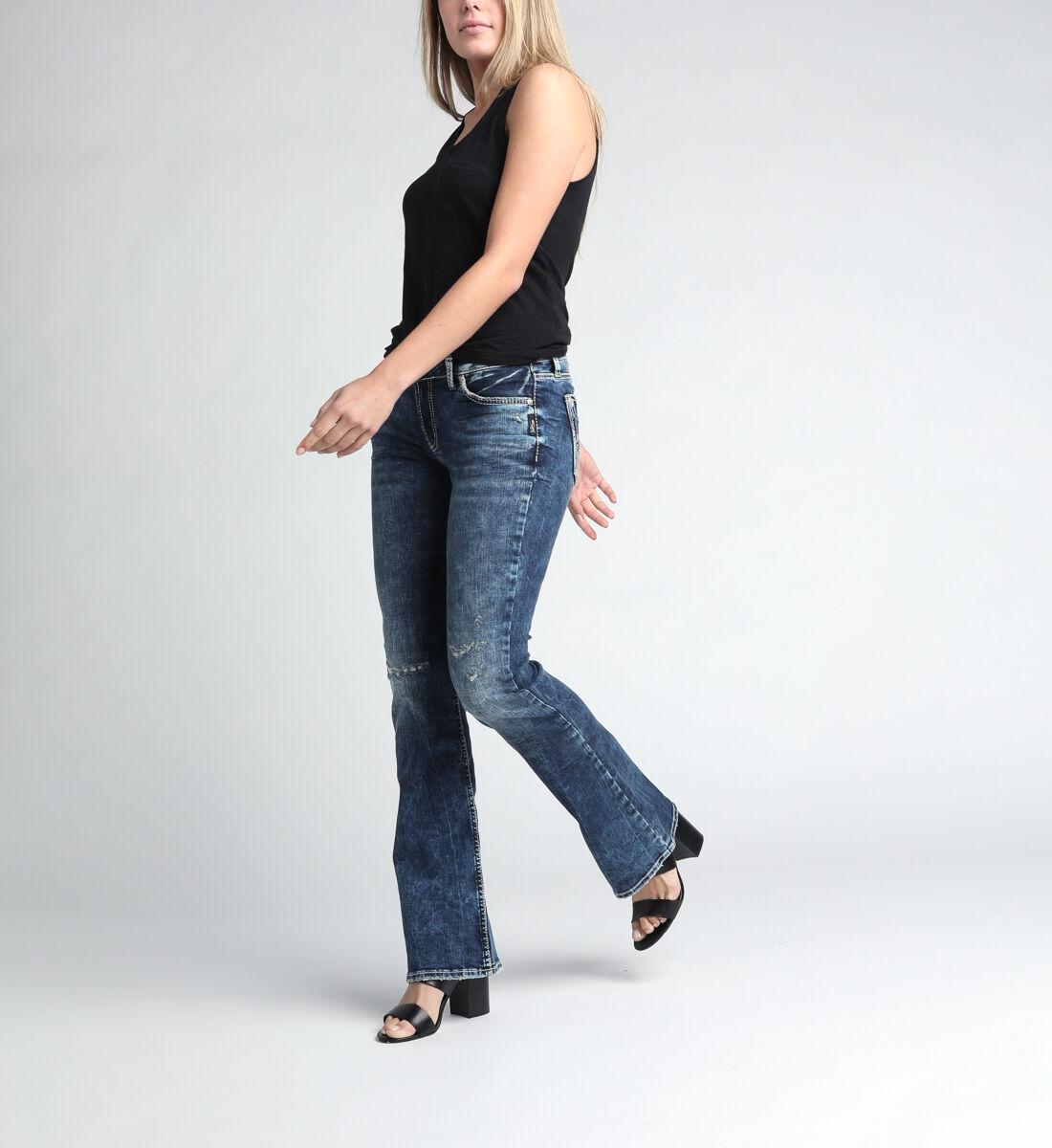 Elyse Mid Rise Bootcut Jeans Alt Image 1