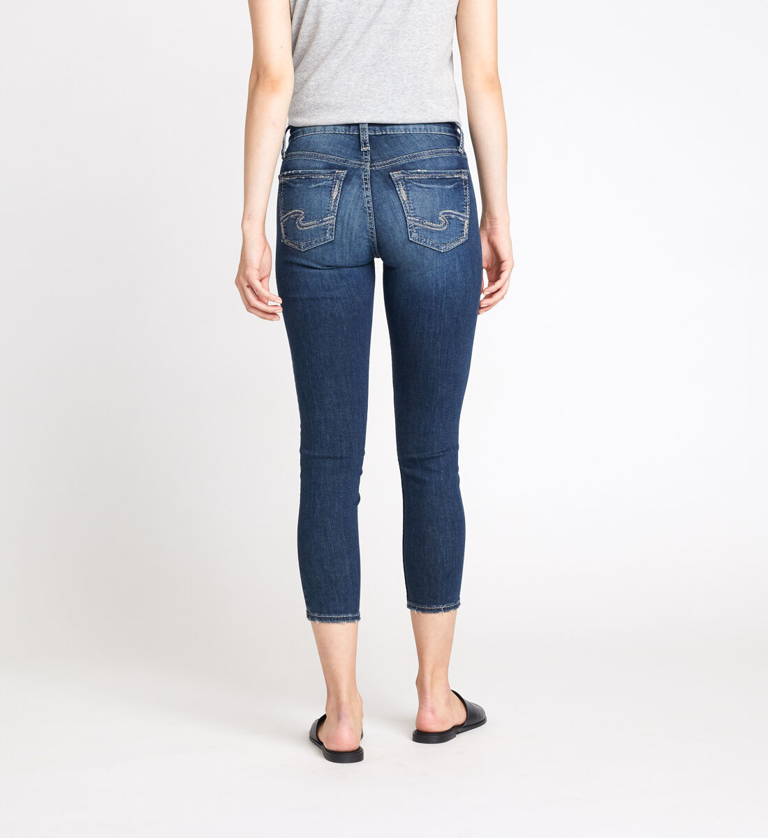 Avery High Rise Skinny Crop Jeans Back