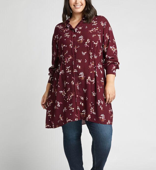 Saffi Floral-Print Tunic Shirt