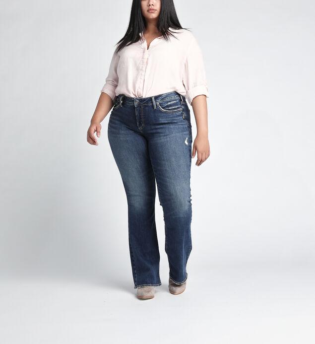 Suki Mid Rise Slim Bootcut JeansPlus Size