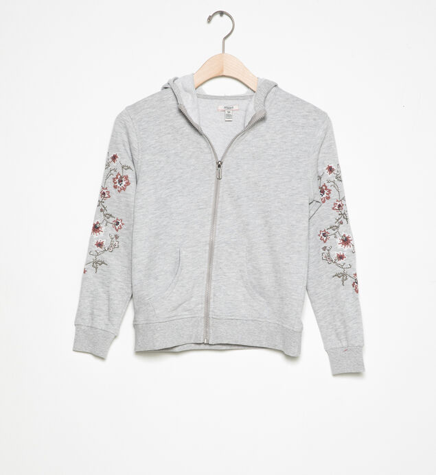 Embroidered Zip-Up Hoodie (4-7)