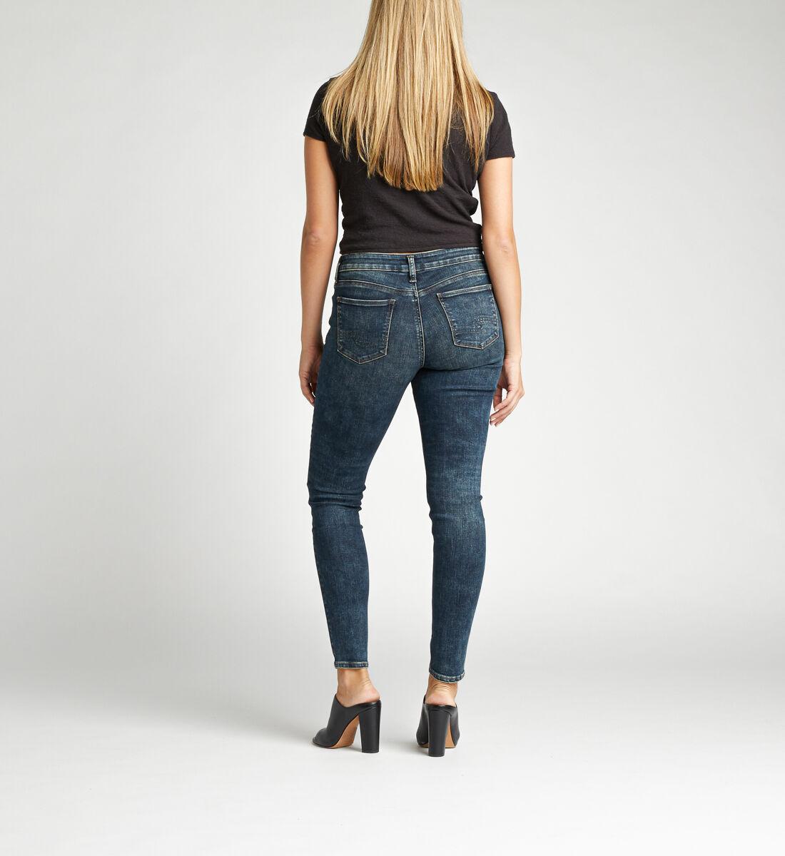Elyse Mid Rise Skinny Jeans Back