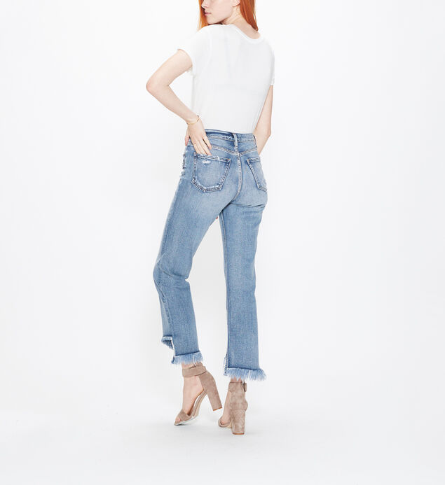 Vintage Ankle Straight High Rise Medium Wash, , hi-res