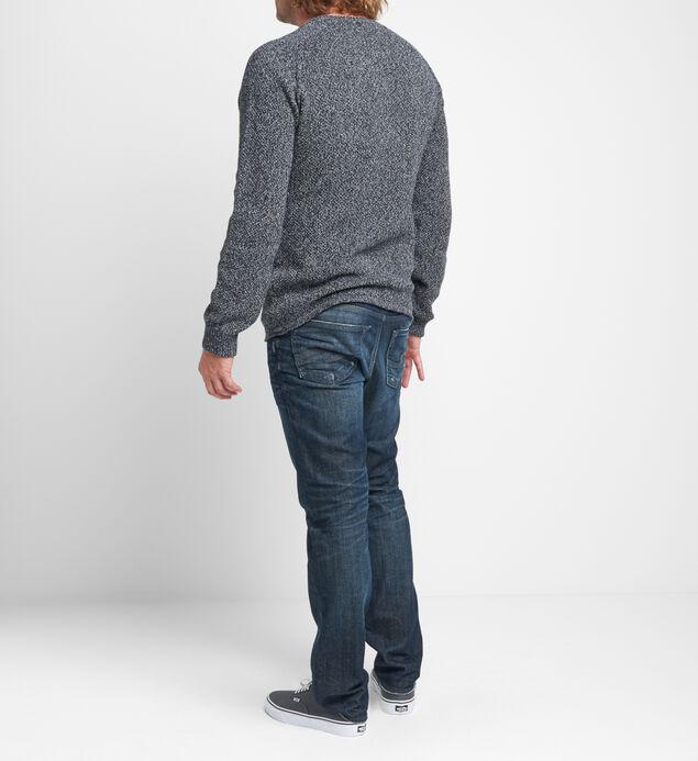 Bridger Marled-Knit Henley Sweater, , hi-res