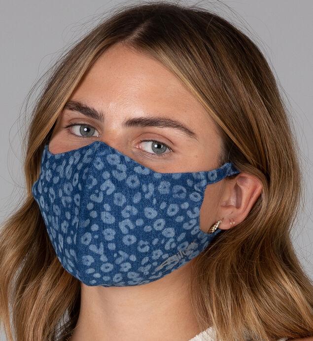 Printed Denim Protective Face Mask – Set of 3
