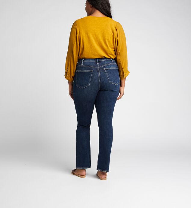 Calley Super High Rise Straight Leg Jeans Plus Size, , hi-res