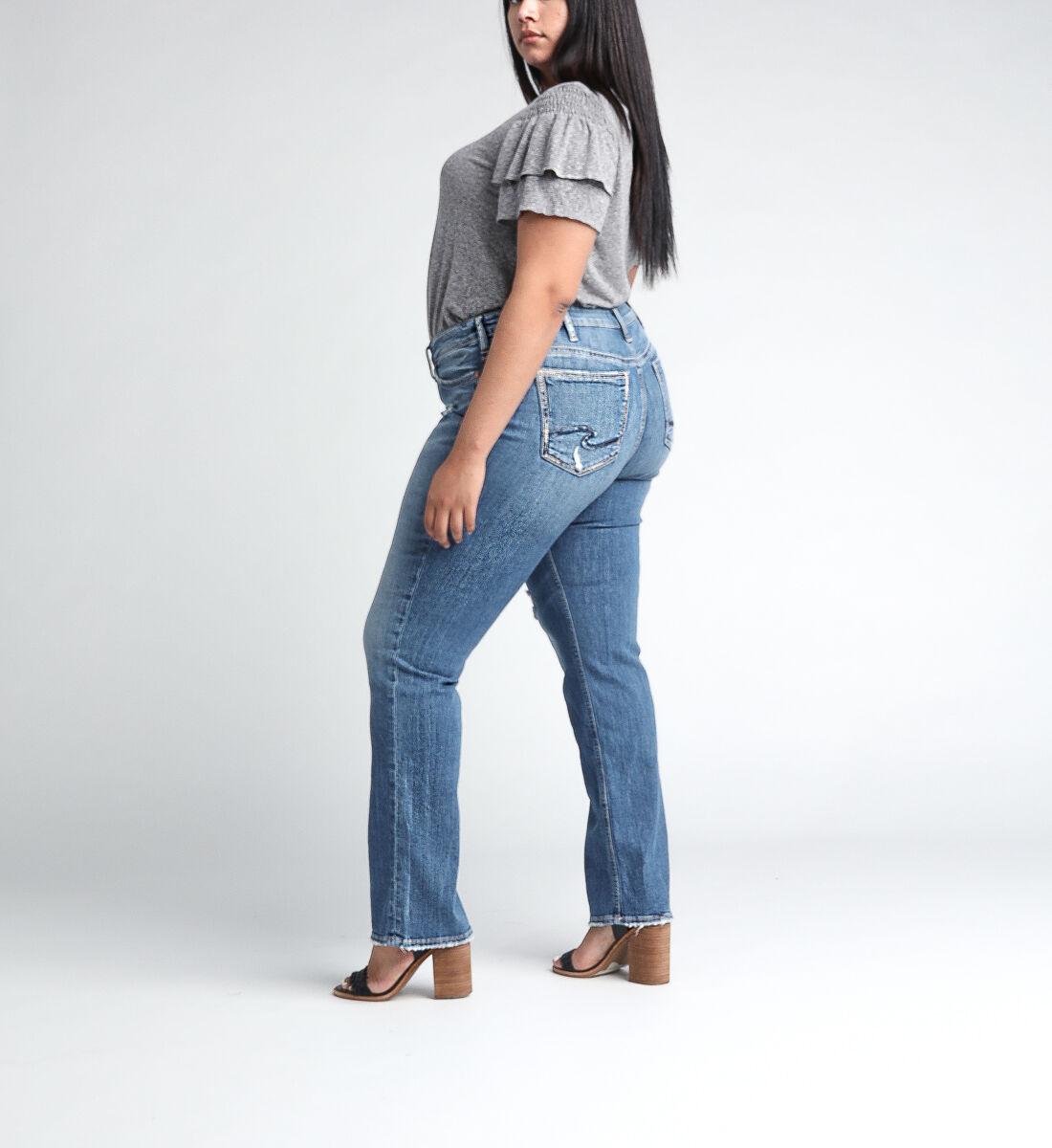 Suki Mid Rise Straight Leg JeansPlus Size Side