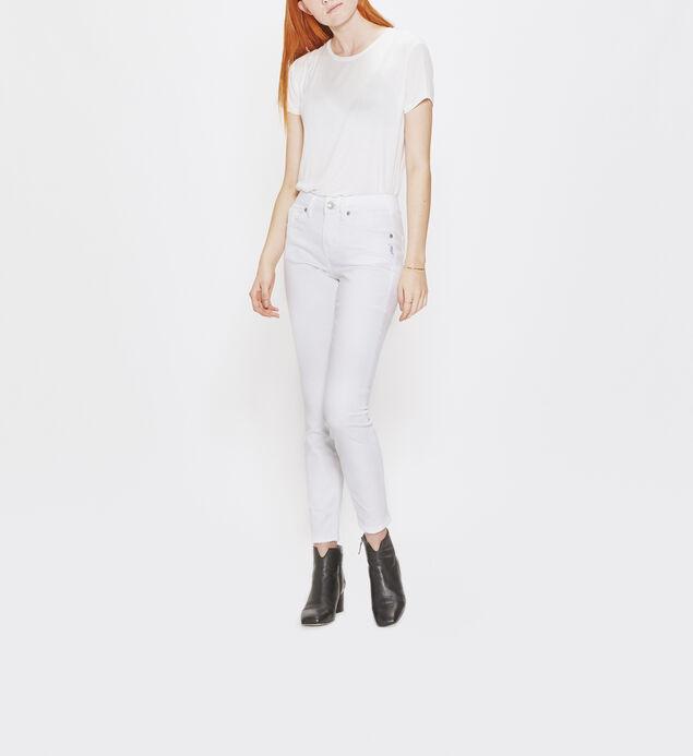 Avery Skinny Leg White Denim