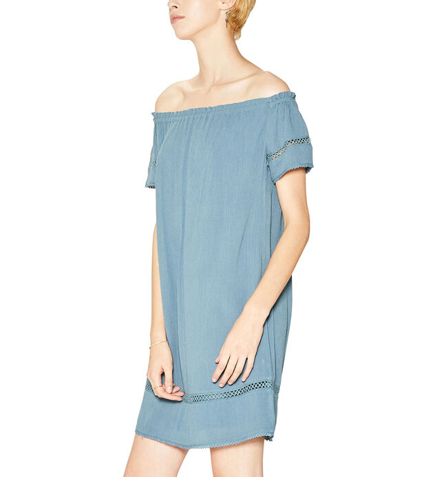 Sutton Off-The-Shoulder Dress, Blue, hi-res