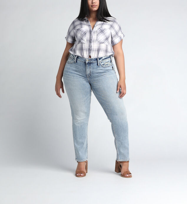 Elyse Mid Rise Slim Leg JeansPlus Size
