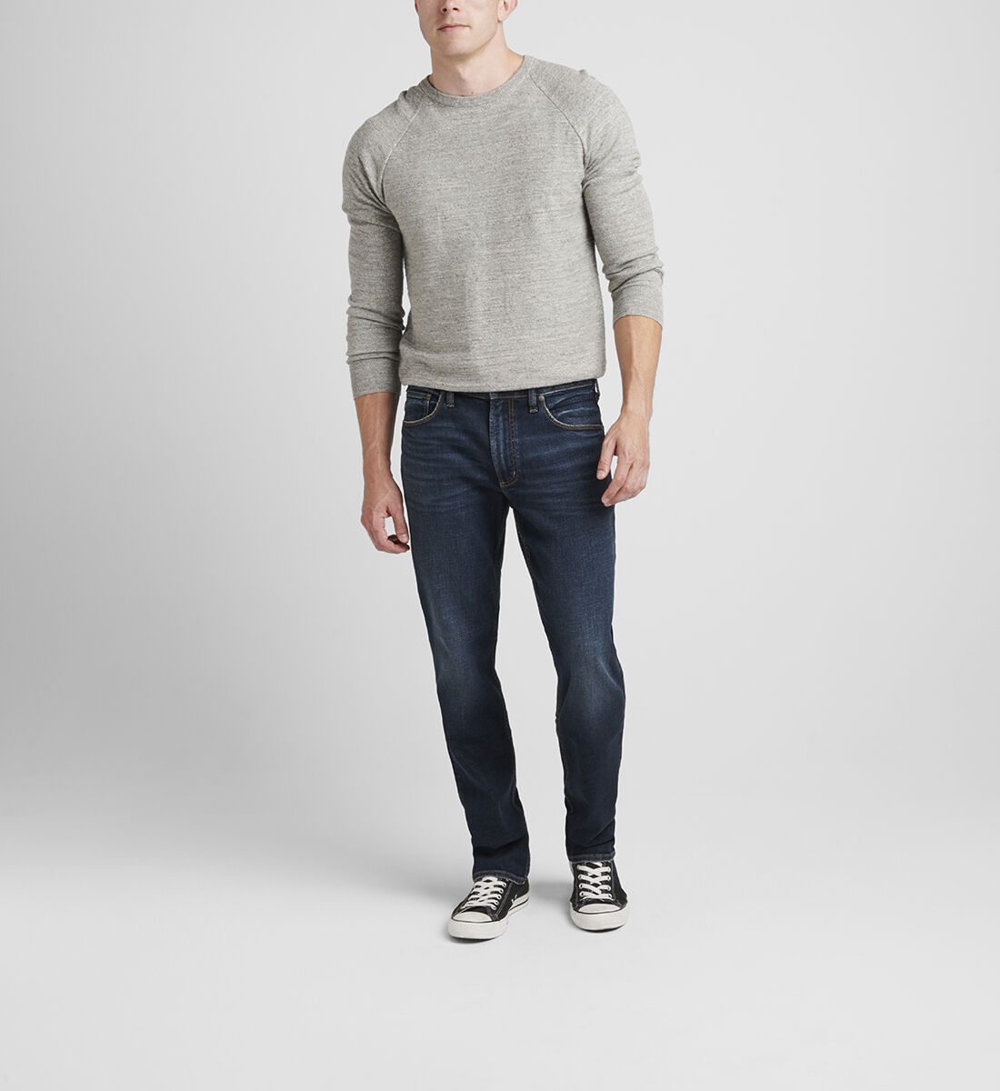Machray Classic Fit Straight Leg Jeans Front