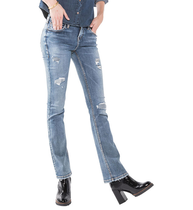 Aiko Slim Boot Medium Wash