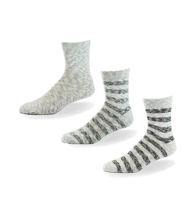 Slub Stripe Mid-Calf Mens Socks