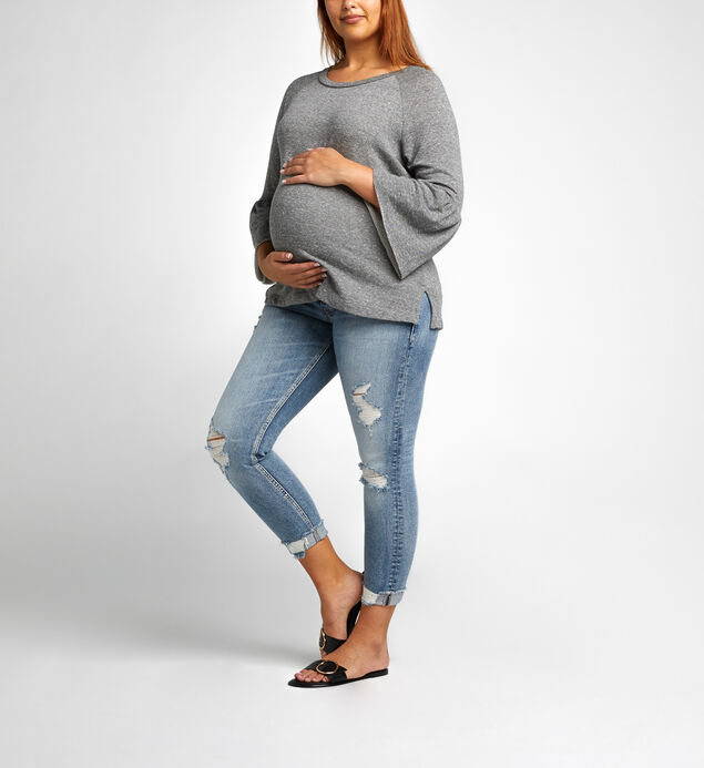 Suki Skinny Crop Medium Wash - MATERNITY, , hi-res